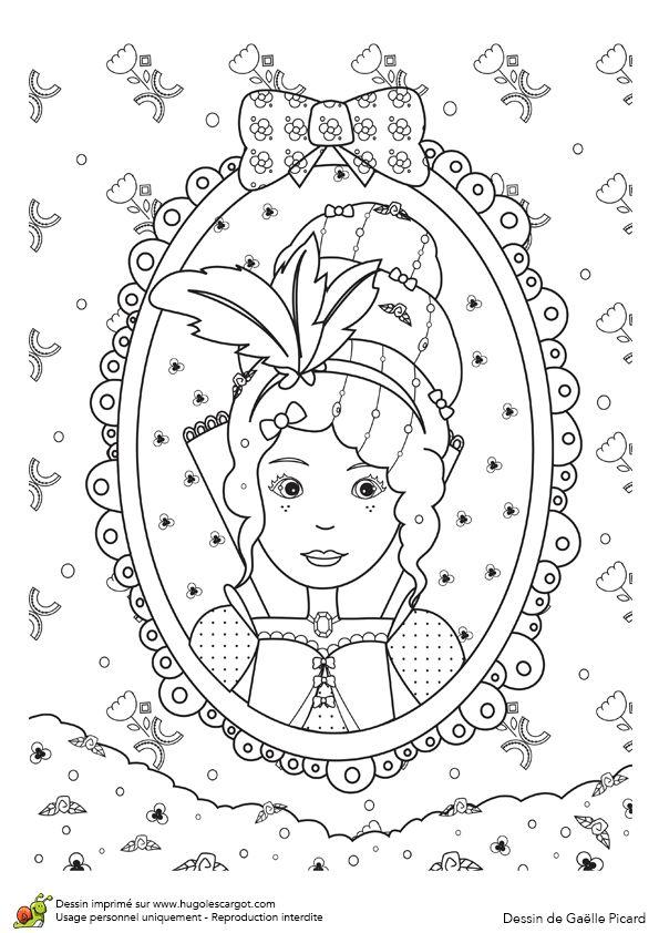 108 best images about coloriage de princesses on pinterest - Princesse a colorier ...