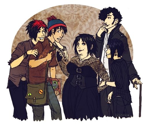 The Goth Kids (and Stan) - South Park  They're creeps, but their loyalty to each other is kinda sweet I guess.