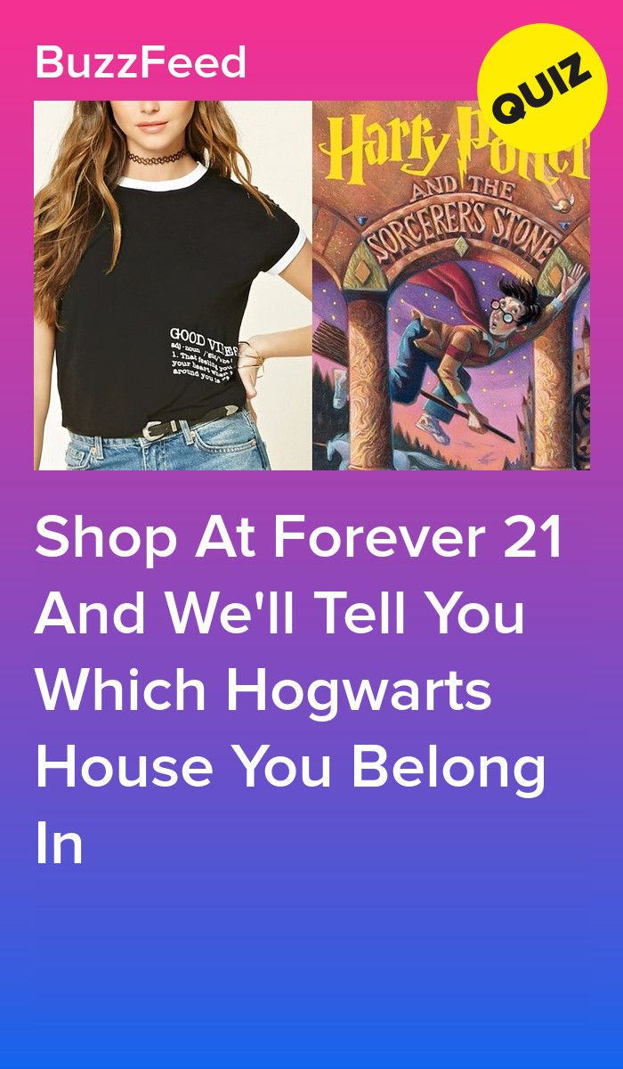 Shop At Forever 21 And We'll Tell You Which Hogwarts House