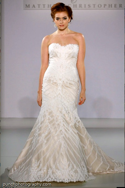 One of many MATTHEW CHRISTOPHER bridal gowns available at our intimate Seattle boutique. Contact Call Bridal for appointments. www.callabridal.com