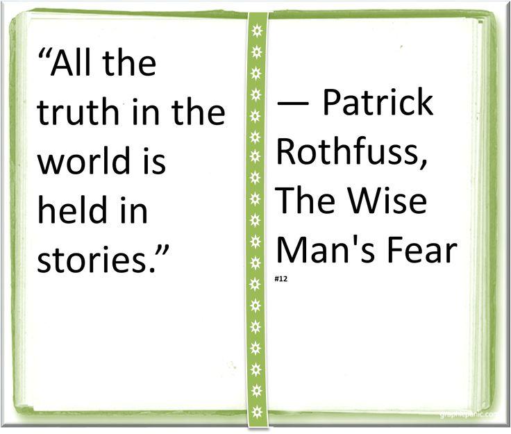 ♥ Patrick Rothfuss ♥ ~ #Quote #Author #Stories