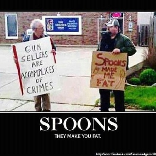 Haha: Spoons, White Lion, Funny Pictures, Points Of View, Common Sen, Guns Control, Funny Stuff, People, Photo