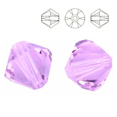 5328 Bicone 6mm Violet 10 pieces  Dimensions: 6,0mm Colour: Violet 1 package = 10 pieces