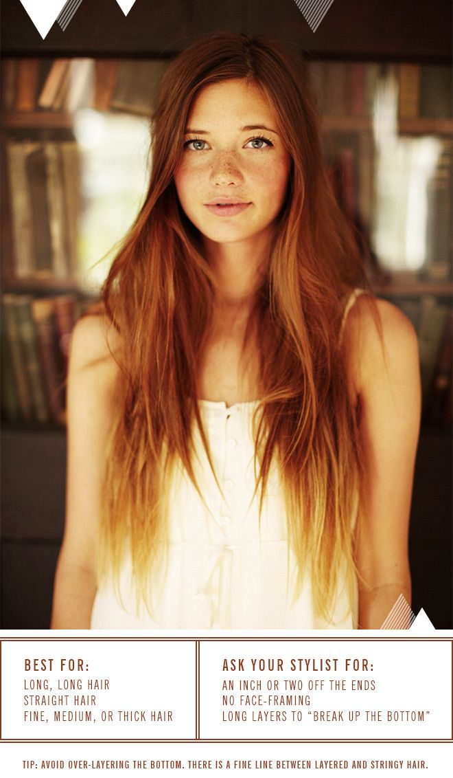 She Lets Her Hair Down: Haircut for Long, Stick-Straight Hair: Hairstyles, Red Hair, Haircolor, Shadow, Hair Style, Redheads, Beauty, Hair Color, Red Head