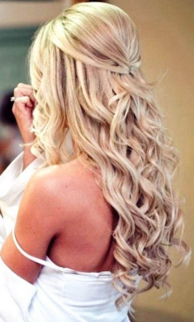 Frisuren für Abschlussball für mittellanges Haar
