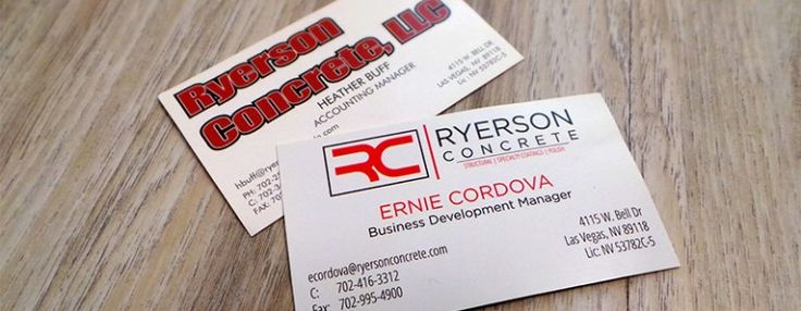 8 best business cards images on pinterest business cards carte de las vegas business card redesign vegas printing check out how we helped ryerson concrete of reheart Image collections