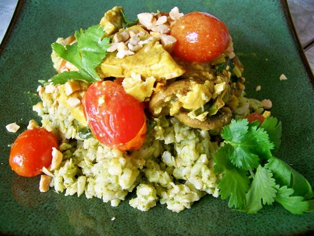 Make and share this Coconut Curried Tofu with Green Jasmine Rice ...