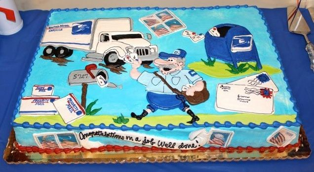 pin postal worker retirement cake party cake on pinterest
