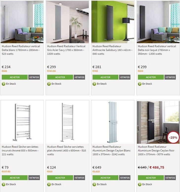radiateur pas cher hudsonreed jusqu 39 25 sur une. Black Bedroom Furniture Sets. Home Design Ideas