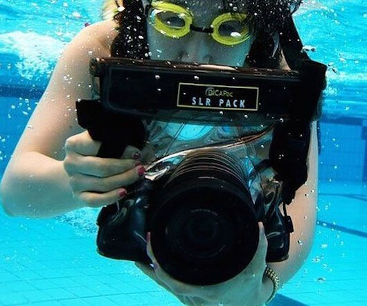 Take your photography to new depths by performing underwater shoots with the waterproof camera case. This unique cases envelops your entire camera and features UV coating polycarbonate on the lens so you can take clear pictures.