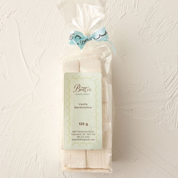 A sweet hint of pure vanilla infuses marshmallows made with all-natural ingredients and hand-cut at Vancouver's Butter Baked Goods.