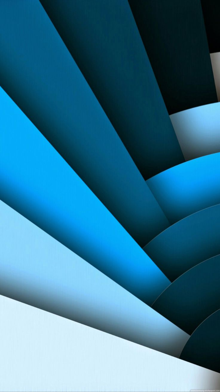 Blue Layered Geometric Wallpaper