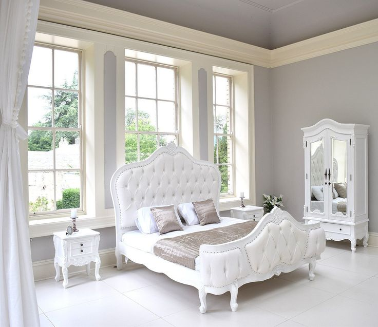 Louis Elegance White Bed | French Style Bed | Rococo Interiors