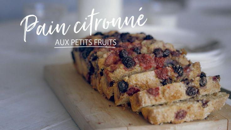 Pain citronné aux petits fruits | Cuisine futée, parents pressés