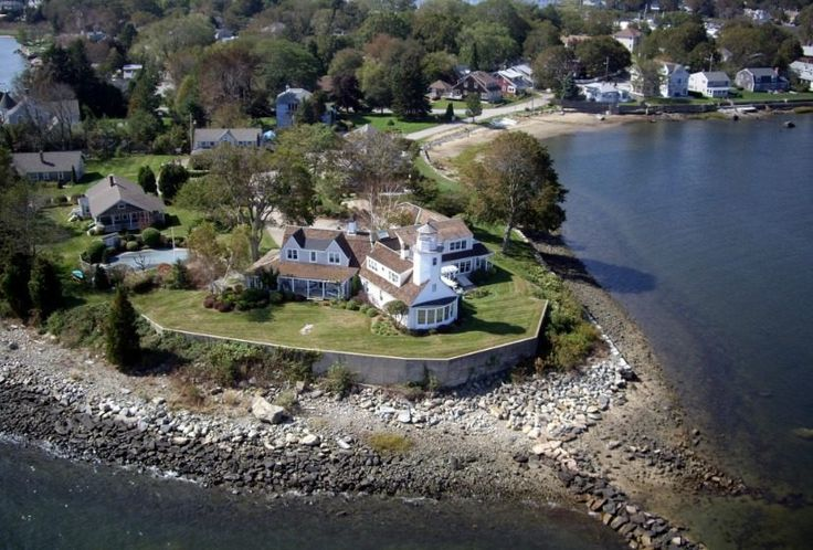 This is one of the oldest lighthouse in the USA, built in 1831, with several additions on 1.66 acre peninsula. Located in RI, asking price $6,450,000