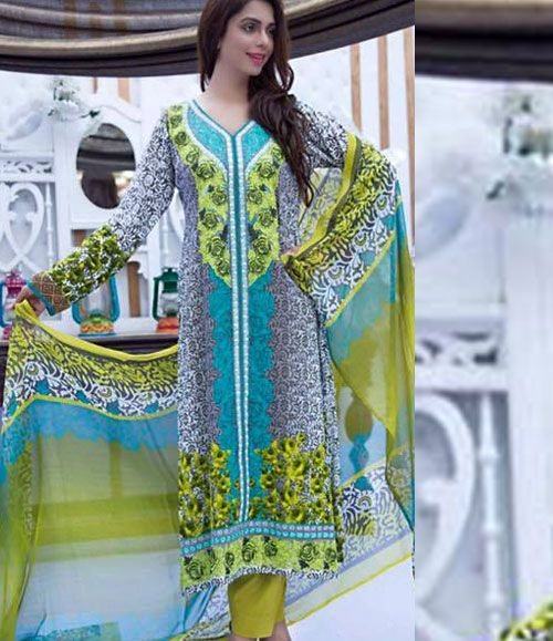 Abeeha By Rana Arts Embroidered Lawn Suits Collection EKR_576(A)