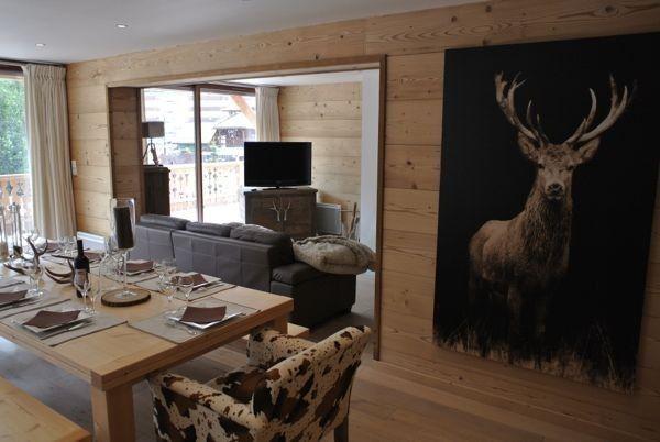 Location vacances appartement Pra-Loup: VUE SUR LA SALLE A MANGER