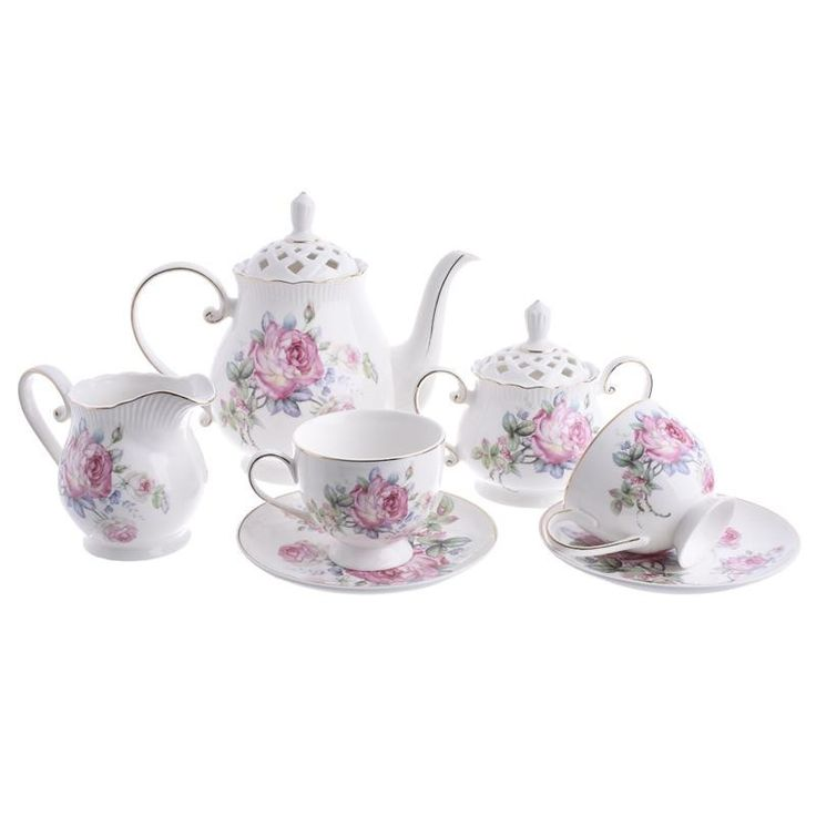 Tea Set Of 9 Pieces - inart