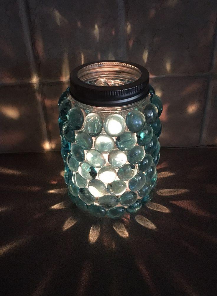 Mason jar prism candle holder home decor by Laylastreasureloft on Etsy  home decor  Mason