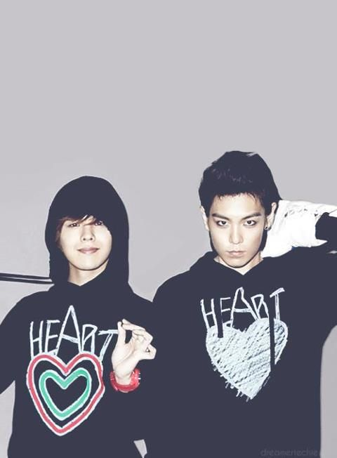 "G-Dragon and TOP . Every time I see this photo for a sec I think, ""Who's the girl with TOP?"""