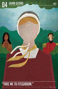 More than just chocolate. The story of Laura Secord is represented on one of 13 limited edition Heritage Minute posters.