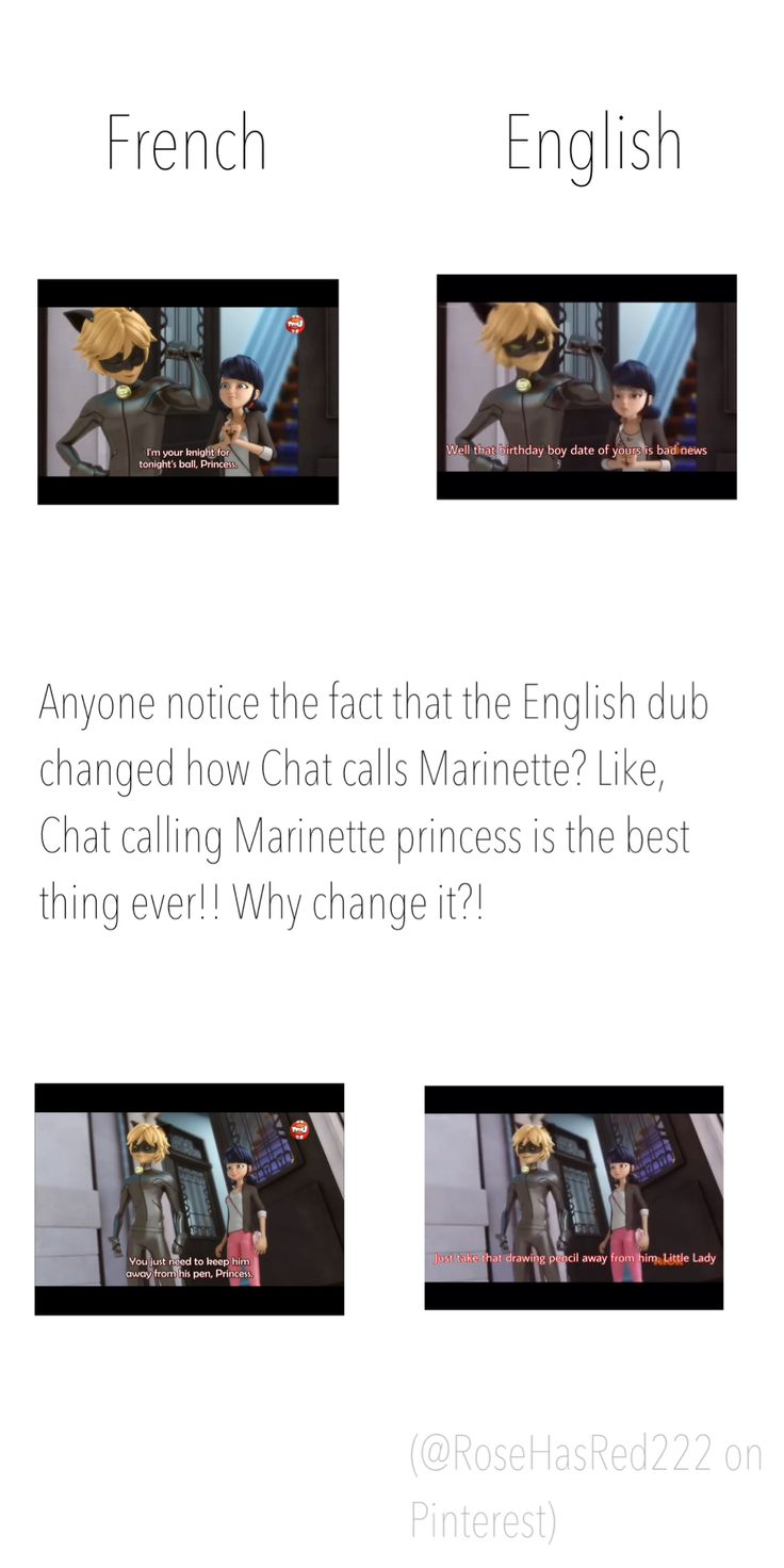 Credit goes to: Rose Red (@RoseHasRed222) << the French version is much more romantic but the English is funnier imo