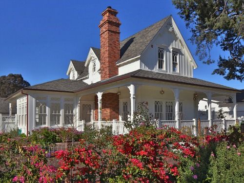 A new napa style farmhouse in california style beaches for New home plans that look old
