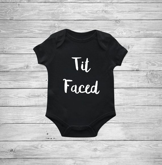 Tit Faced Onesie Baby boy onesie Funny onesie by DaliceDesigns