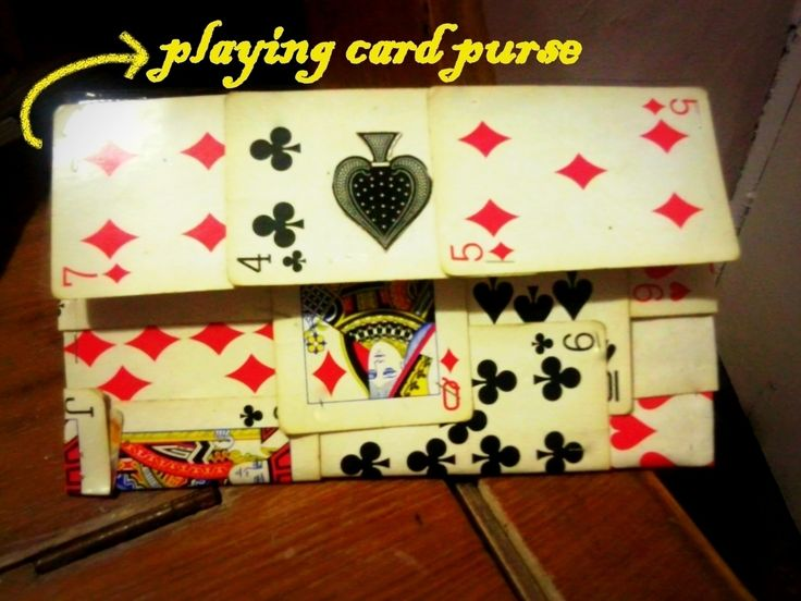 Playing Cards Purse. A good use for that deck of cards with some missing
