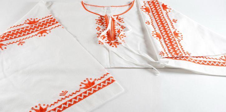 Slovakia, region Detva - folk embroidery Slovakia was applied as decoration of clothing and adornment household textiles