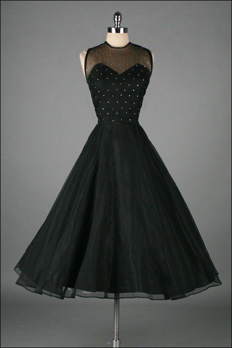 Gigi Young ~ 1950's little black dress {Repin}