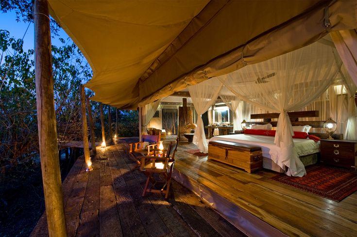 Camp in Batswana, Africa