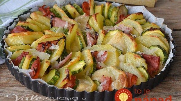 Ľahké, rýchle a veľmi chutné: Prekladaná zeleninová misa so syrom a šunkou!