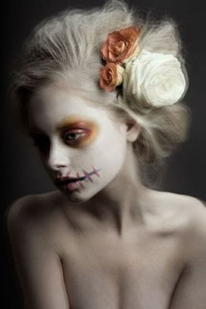 Day of the Dead Make-up or could be good for a ghost...