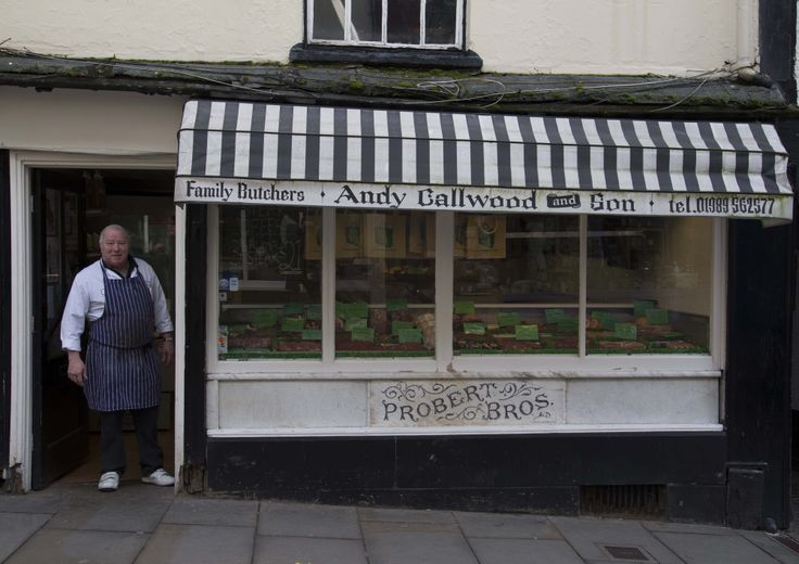 A traditional family butcher.