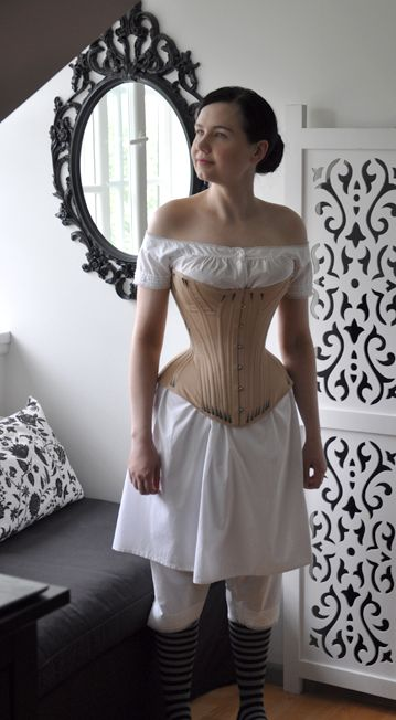 Before the Automobile: Gusseted 1870's corset.  Has links to the pattern which is not in English, but should be doable.