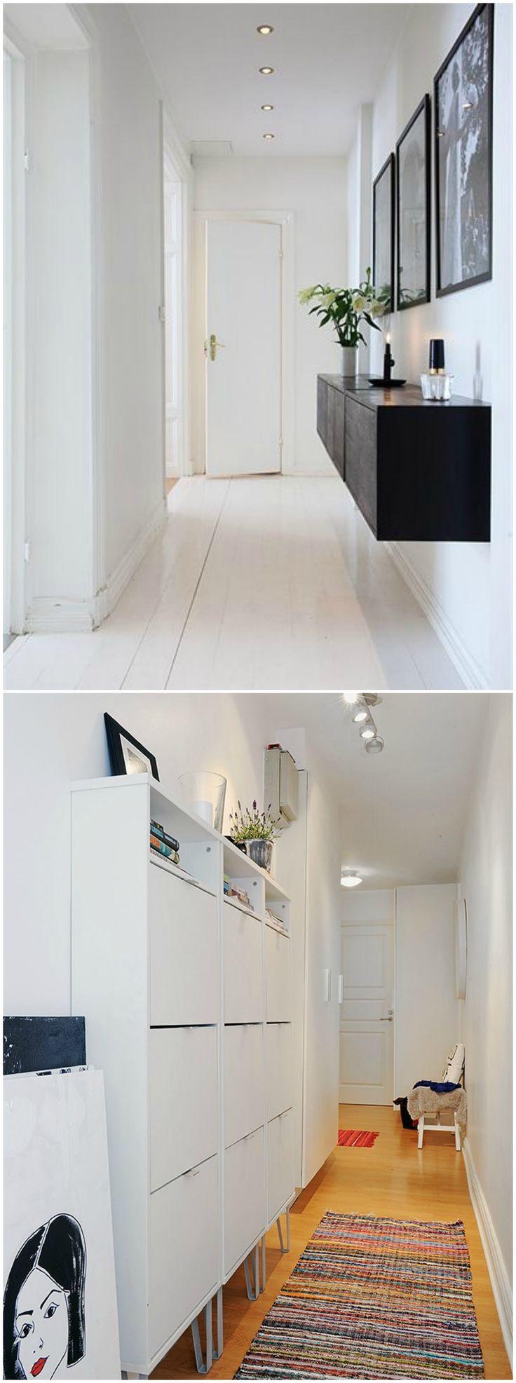 Decorar el pasillo. Visto en www.momocca.com