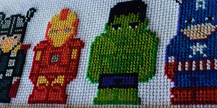 Csináld Magad - Bosszúállók keresztszemes - DIY Avengers cross stitch - Thor, Iron Man, Hulk, Captain America - SZMK