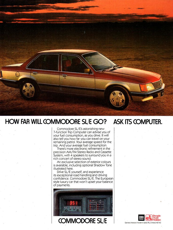 https://flic.kr/p/F73Uok | 1982 VH Commodore SL/E Aussie Original Magazine Advertisement