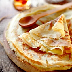 Crêpes: This takes leftover night to a whole new level. I used to think they were VERY complicated- turns out the beating of the egg adds a stiffness to the batter (like a noodle pâte) that makes them super easy to cook and flip.