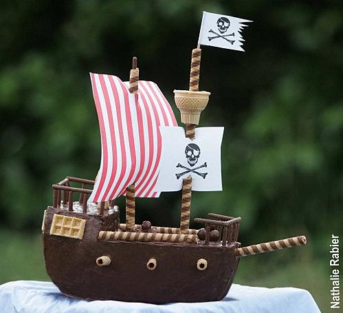 Bâteau pirate cake