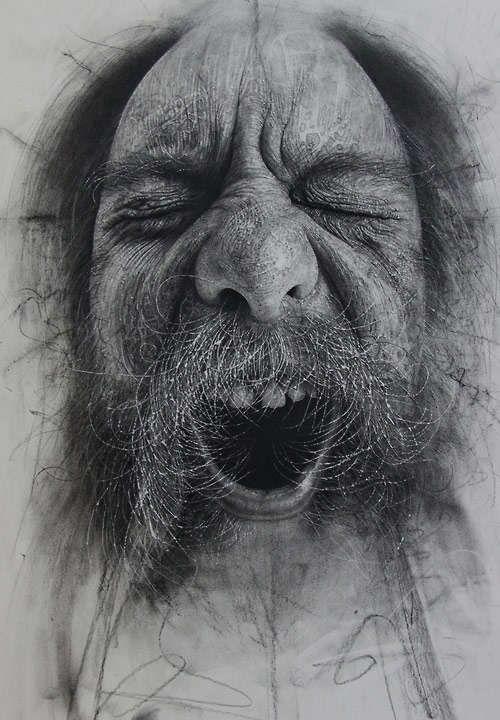 Hyper-Realistic Charcoal Portraits : Douglas McDougall