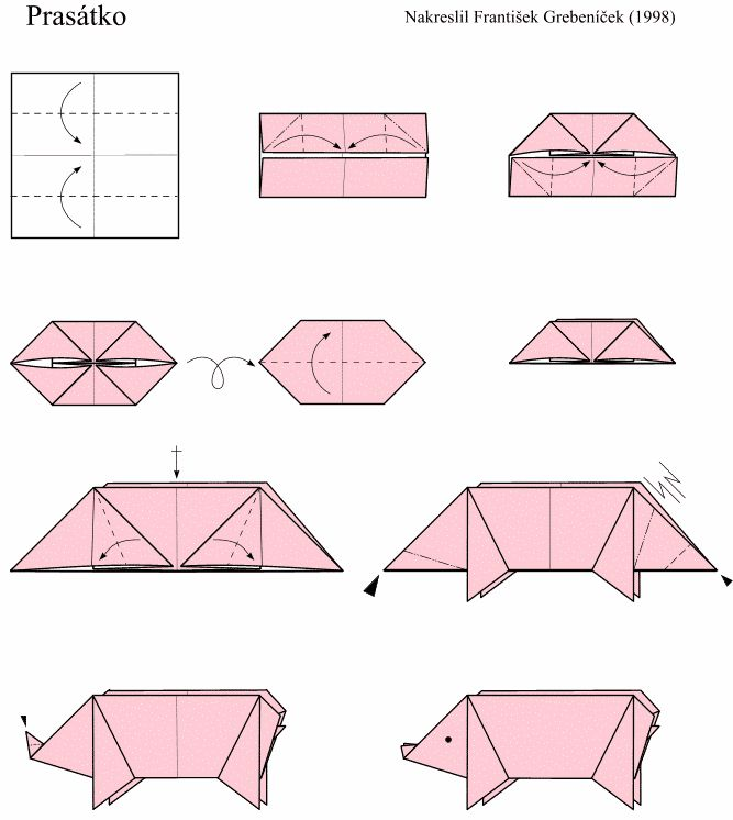 Varken | Lesidee knutselen | Pinterest | Origami, Pigs and ... - photo#29