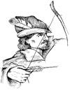 Robin Hood Coloring Pages  Robin hood Hats  Draw a Archer