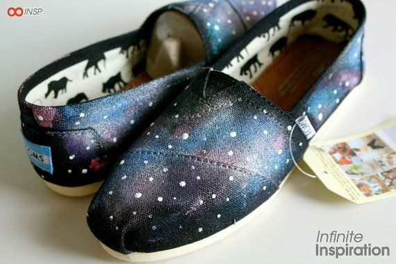 Galaxy Toms or Vans Keds etc by InfiniteInspiration on Etsy, $80.00