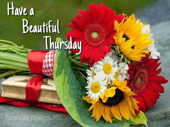 Image result for Happy Thursday with lyrics and flowers
