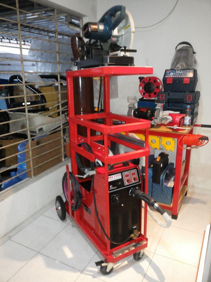 carrinho para maquina de solda mig mdg215ed bambozzi
