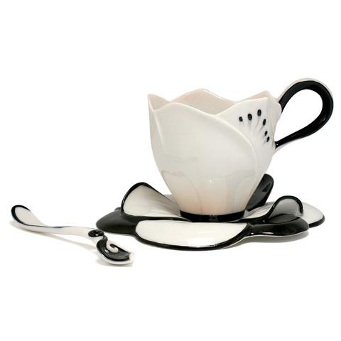 Franz Camellia Blossom cup  saucer and spoon