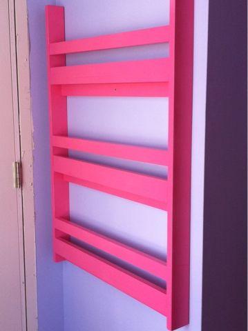 Thin Wall bookshelve for Isla's room.