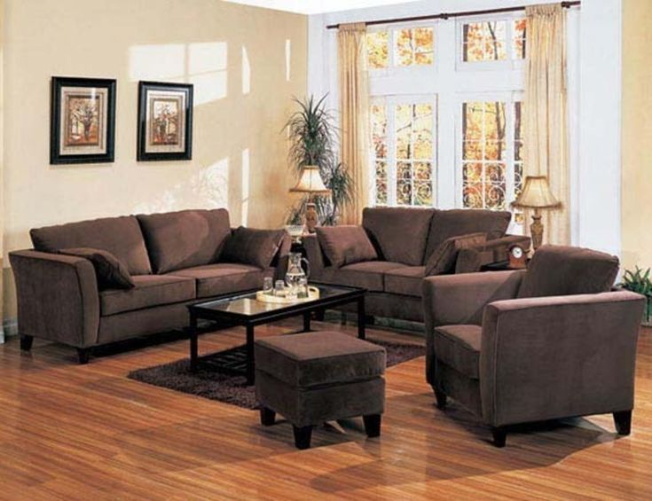 Living Room Decor Ideas With Brown Furniture Part - 41: Brown Sofas | ... Retro Contemporary Style Design Living Room Furniture  Fabric Sofa Set